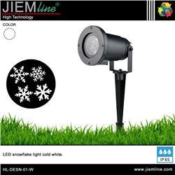 LUMINARIA LED SNOWFLAKE BLANCO FRÍO 4W - HL-DESN-01-W
