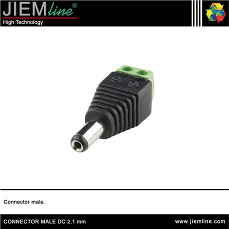 CONECTOR MALE DC 2,1 mm - CONNECTOR MALE DC
