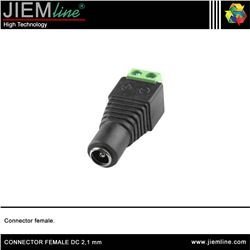 CONECTOR FEMALE DC 2,1 mm - CONNECTOR FEMALE DC