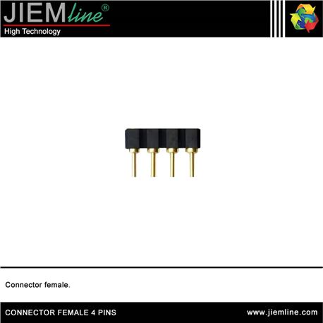 CONECTOR FEMALE 4 PIN TIRA LED FLEXIBLE - CONNECTOR FEMALE