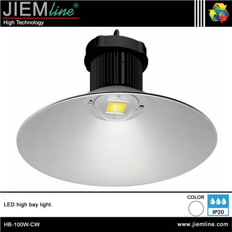 LUMINARIA LED BLANCO FRIO 100W - HB-100W-CW