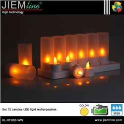 SET 12 VELAS LED RECARGABLES - HL-HFH06-WW-1