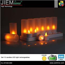 SET 12 VELAS LED RECARGABLES - HL-HFH06-WW-1
