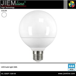 LÁMPARA LED E27 BLANCO NEUTRO 15W - HL-G95P-15W-W