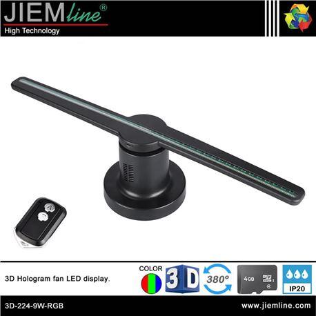 3D HOLOGRAM FAN LED 9W - 3D-224-9W-RGB-1