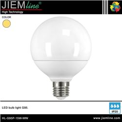 LÁMPARA LED E27 BLANCO CÁLIDO 15W - HL-G95P-15W-WW