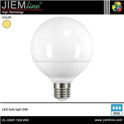 LÁMPARA LED E27 BLANCO CÁLIDO 15W - HL-G95P-15W-WW