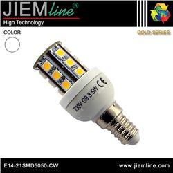 LÁMPARA LED E14 BLANCO FRÍO 4W - E14-21SMD5050-CW