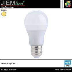 LÁMPARA LED E27 BLANCO CÁLIDO 10W - HL-A60P-10W-WW