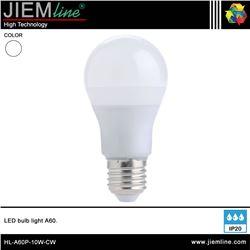 LÁMPARA LED E27 BLANCO FRÍO 10W - HL-A60P-10W-CW