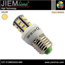 LÁMPARA LED E27 BLANCO CÁLIDO 4W - E27-21SMD5050-WW