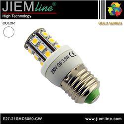 LÁMPARA LED E27 BLANCO FRÍO 4W - E27-21SMD5050-CW