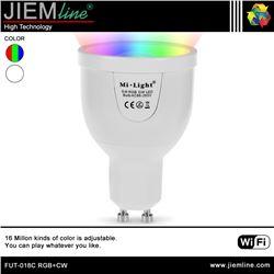 LÁMPARA LED GU10 RGB+CW 5W WIFI 2,4 Ghz - FUT-018C RGB+CW
