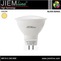 LÁMPARA LED MR16 BLANCO CÁLIDO 5,3W - MR16-5.3W-WW