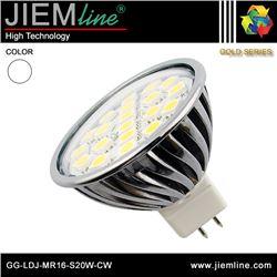 LÁMPARA LED MR16 BLANCO FRÍO 3,5W - GG-LDJ-MR16-S20W-CW
