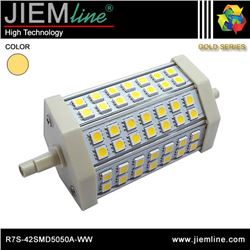 LÁMPARA LED R7S BLANCO CÁLIDO 10W - R7S-42SMD5050A-WW