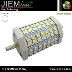 LÁMPARA LED R7S BLANCO FRÍO 10W - R7S-42SMD5050A-CW