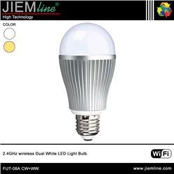 LÁMPARA LED E27 CW+WW 6W WIFI 2,4 Ghz - FUT-08A CW+WW