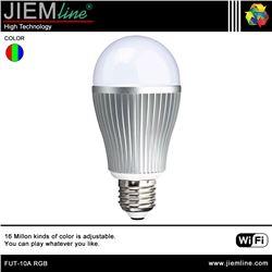 LÁMPARA LED E27 RGB 6W WIFI 2,4 Ghz - FUT-10A RGB