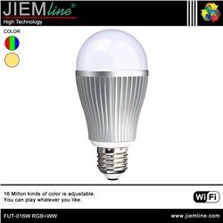 LÁMPARA LED E27 RGB+WW 9W WIFI 2,4 Ghz - FUT-016W RGB+WW