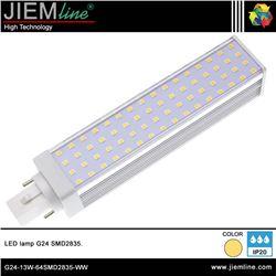 LÁMPARA LED G24 BLANCO CÁLIDO 13W - G24-13W-64SMD2835-WW