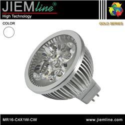 LÁMPARA LED MR16 BLANCO FRÍO 4W - MR16-C4X1W-CW