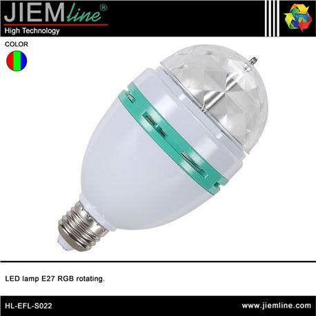 LÁMPARA LED E27 RGB ROTATIVA 3W - HL-EFL-S022-1