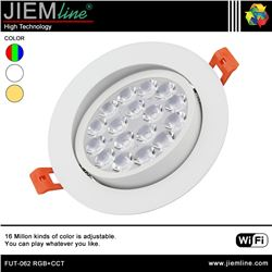 DOWNLIGHT LED RGB+CCT 9W WIFI 2,4 Ghz - FUT-062 RGB+CCT-1
