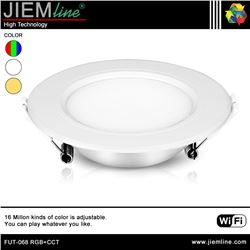 DOWNLIGHT LED RGB+CCT 6W WIFI 2,4 Ghz - FUT-068 RGB+CCT-1