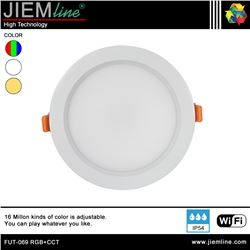 DOWNLIGHT LED RGB+CCT 15W WIFI 2,4 Ghz - FUT-069 RGB+CCT-1