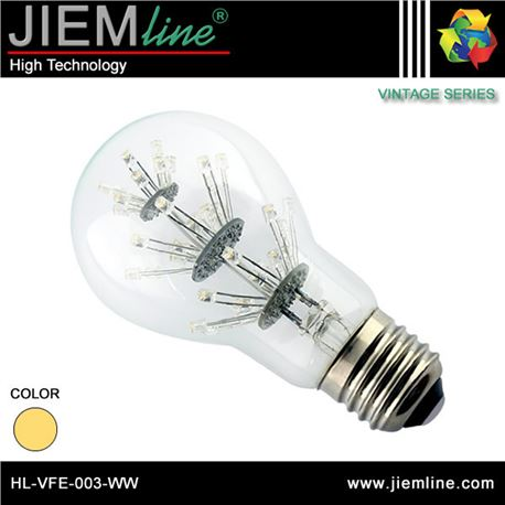 LÁMPARA LED E27 BLANCO CÁLIDO 1W - HL-VFE-003-WW