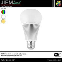 LÁMPARA LED E27 RGB+CCT 9W WIFI 2,4 Ghz - FUT-012 RGB+CCT-1