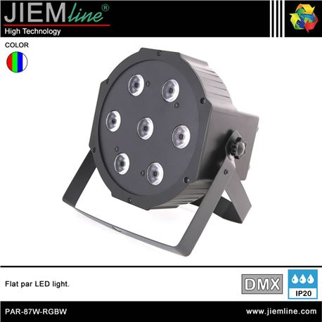 FLAT PAR LED RGBW - DMX 87W - PAR-87W-RGBW-1