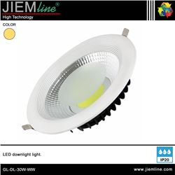 DOWNLIGHT LED BLANCO CÁLIDO 30W - GL-DL-30W-WW