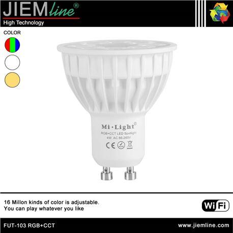 LÁMPARA LED GU10 RGB+CCT 4W WIFI 2,4 Ghz - FUT-103 RGB+CCT-1