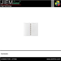CONECTOR LINEAL 6 PINS TIRA LED FLEXIBLE - CONNECTOR - 6 PINS