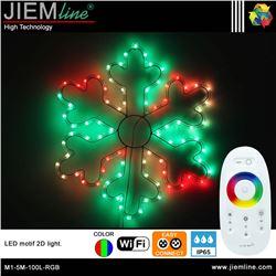 COPO NIEVE 2D LED RGB 60X60 cm WIFI 2,4 Ghz - M1-5M-100L-RGB-1