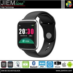 SMART WATCH SILVER BLACK - SW-B3-BLACK-S-00