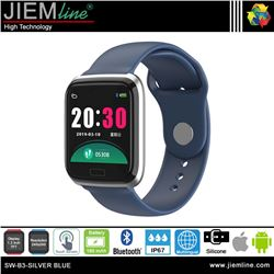 SMART WATCH SILVER BLUE - SW-B3-BLUE-S-00