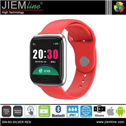 SMART WATCH SILVER RED - SW-B3-RED-S-00