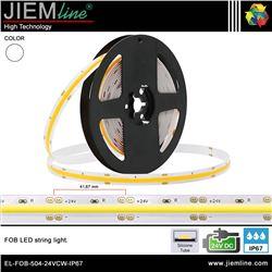 TIRA FOB LED BLANCO FRIO 24V DC IP67 - EL-FOB-504-24VCW-IP67