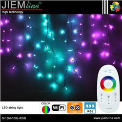 GUIRNALDA LED RGB 10m / 100 Leds WIFI 2,4 Ghz - S-10M-100L-RGB-1