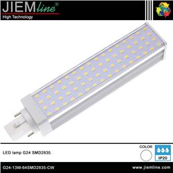 LÁMPARA LED G24 BLANCO NEUTRO 13W - G24-13W-64SMD2835-CW