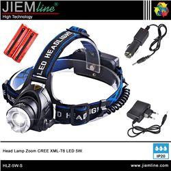 LINTERNA CABEZA 5W ZOOM CREE XML-T6 LED - HLZ-5W-S-1