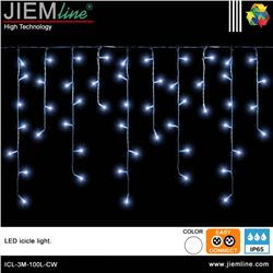 ICICLE LED BLANCO FRÍO 3m / 100 Leds - ICL-3M-100L-CW