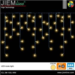 ICICLE LED BLANCO CÁLIDO 3m / 100 Leds - ICL-3M-100L-WW