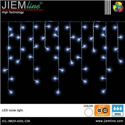 ICICLE LED BLANCO FRÍO 3m / 420 Leds - ICL-3M2H-420L-CW