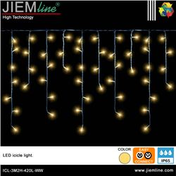ICICLE LED BLANCO CÁLIDO 3m / 420 Leds - ICL-3M2H-420L-WW