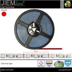 TIRA LED ROJO 12V DC IP67 - 5050-12V-R-IP67