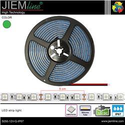 TIRA LED VERDE 12V DC IP67 - 5050-12V-G-IP67